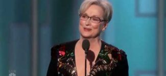 Meryl Streep Farting at Golden Globe Awards